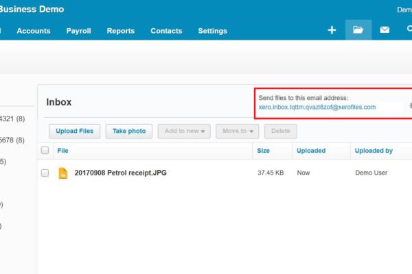 Xero Files Library Email Address Small