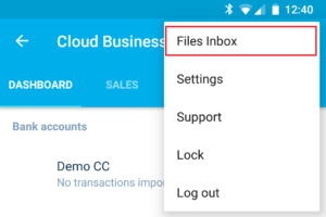 Xero App Android Files Inbox Menu